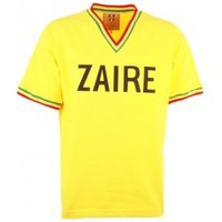 212312e78 Zaire 1974 World Cup Yellow Retro Football Shirt