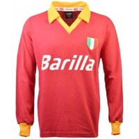 cafe65ef6f9 Rome 1983-1984 Retro Football Shirt. As worn in the season following the  Giallorossi s second Scudetto and in the European Cup Final Played in the  familiar ...